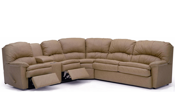 Aria Reclining True Sectional Sleeper with Console