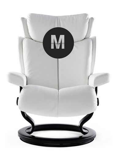 Medium Frame Magic Stressless Recliner