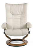 Wing Stressless Leather Recliner