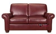 Charter Leather Loveseat with Pocket-Coils by Leather Living