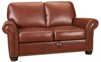 Woodland Leather Loveseat with Pocket-Coils by ...
