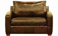 Boulder Chair Leather Sleeper Sofa by Savvy