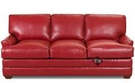 Gold Coast Queen Leather Sleeper Sofa by Savvy