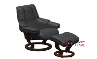 Reno Medium Recliner and Ottoman by Stressless