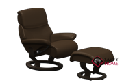 Dream Small Recliner and Ottoman by Stressless ...