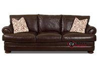 Montezuma Leather Sofa with Down-Blend Cushions by Klaussner in Classic...