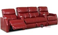 Atlantis 4-Seat Leather Reclining Home Theater Seati...