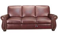 Leather Living Taylor Leather Queen Sleeper Sofa with Pocket-Coils