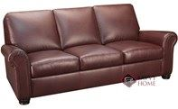 Charter Queen Leather Sleeper Sofa with Pocket-Coils by Leather Living