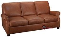 Evening Queen Leather Sofa Bed with Pocket-Coils by Leather Living