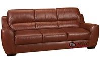 Westchester Queen Leather Sofa Bed with Pocket-Coils by Leather Living