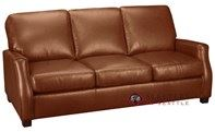 Leather Living Plaza Leather Queen Sleeper Sofa with Pocket-Coils