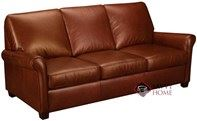 Prince Queen Leather Sofa Bed with Pocket-Coils by Leather Living