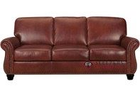Leather Living Victoria Leather Queen Sleeper Sofa with Pocket-Coils