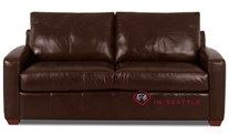 Savvy Boulder Leather Sleeper Sofa in Perugia Letorri (Full)