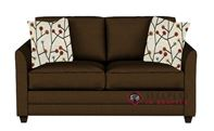 Savvy Valencia Sleeper Sofa in Microsuede Chocolate (Full)
