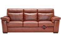 Cervo Power Reclining Leather Sofa by Natuzzi Editions