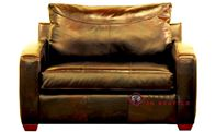 Savvy Boulder Leather Sleeper Sofa in Chesterfield Whiskey (Chair)