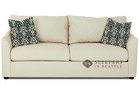 Savvy Knoxville Sleeper Sofa in Microsuede Oyster (Queen)