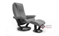 Bliss Medium Recliner and Ottoman by Stressless
