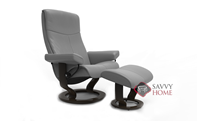 Peace Medium Recliner and Ottoman by Stressless