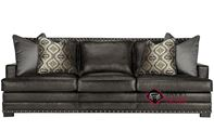 Cantor Leather Sofa with Down-Blend Cushions by Bernhardt in 165-222