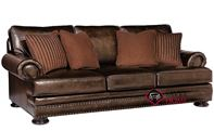 Foster Leather Sofa with Down-Blend Cushions by Bernhardt in 203-020