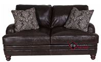 Tarleton Leather Loveseat with Down-Blend Cushions by Bernhardt