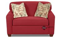 Zurich Chair Sleeper Sofa by Savvy in Willow Blaze Red