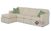 Jersey Large Chaise Sectional Sofa with Slipcov...