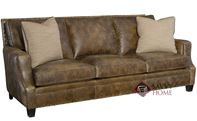 Barclay Leather Sofa with Down-Blend Cushions b...