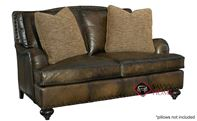 Fulham Leather Loveseat with Down-Blend Cushions by Bernhardt in 282-052