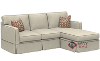 Jersey Compact Chaise Sectional Sofa with Slipcover by Savvy