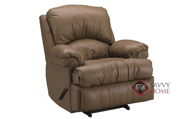 Milan Reclining Leather Chair Sideview