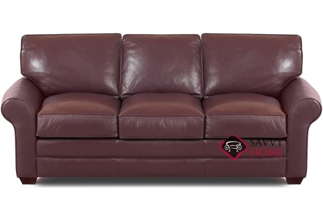 montreal leather sofa by savvy is fully customizable by