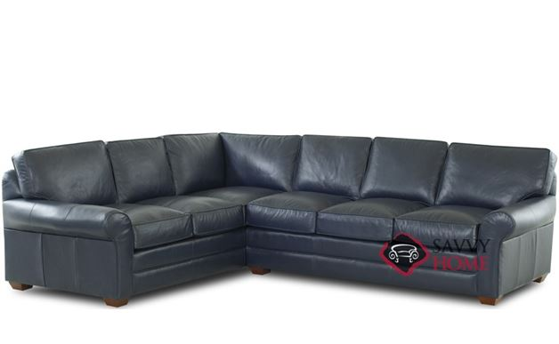 montreal leather true sectional by savvy