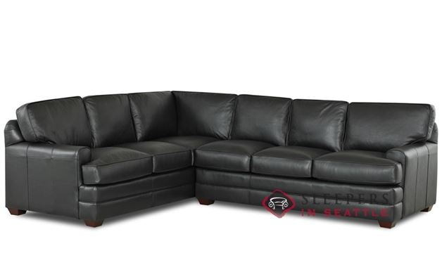 Savvy Halifax Leather True Sectional (RAF)