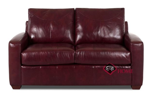 Boulder Leather Loveseat by Savvy