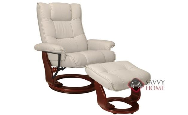 Monterey Benchmaster Leather Recliner in Top-Grain Taupe