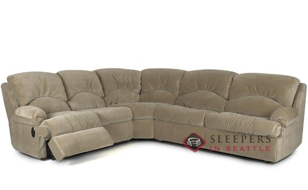 Savvy Milan 3 Piece Reclining True Sectional Sleeper