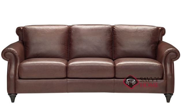 A297 Leather Sofa by Natuzzi shown in Matera Mahogany