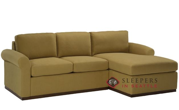 Lazar Industries Eclipse Chaise Sectional with 2-Cushion Condo Sleeper (Queen)