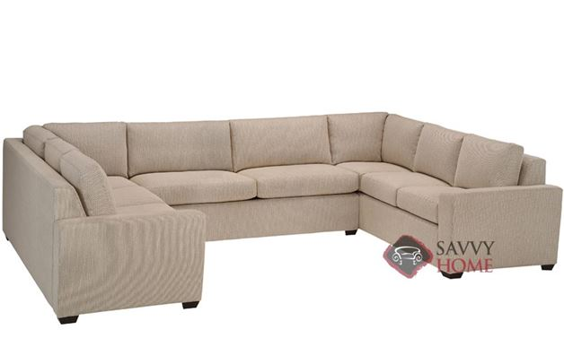 Geo U-Shape True Sectional with 2-Cushion Sofa