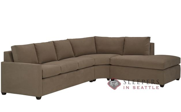 The Terra Chaise Sectional with 3-Cushion Sleeper (Queen)