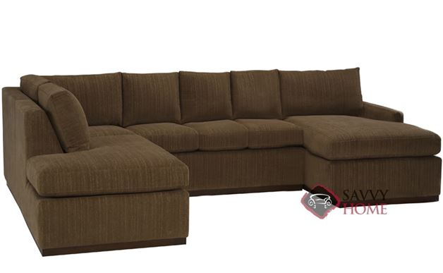 Terra U-Sectional with 3-Cushion Queen Sleeper