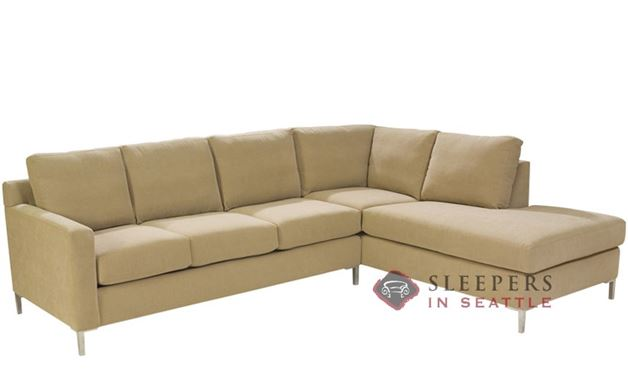 Lazar Soho Loveseat Chaise Sectional with 3-Cushion Sleeper (Queen)