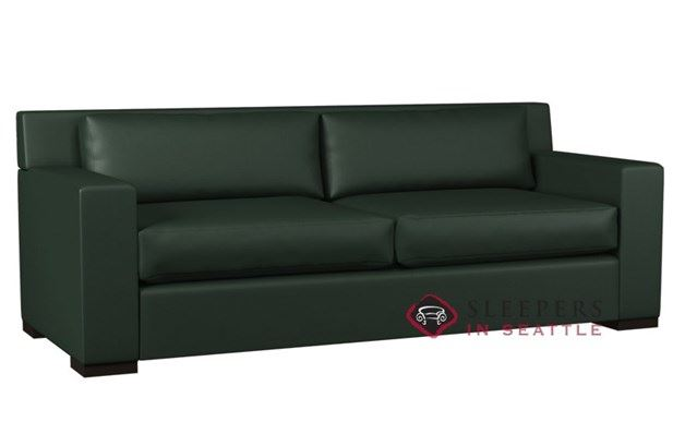 Lazar Corvo 2-Cushion Leather Sleeper (Queen)