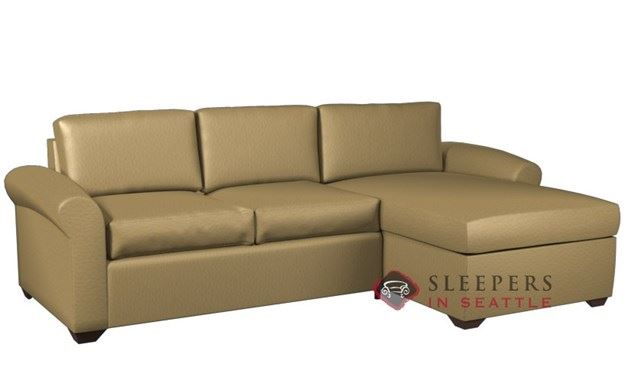 Lazar Industries Eclipse Leather Chaise Sectional with 2-Cushion Condo Sleeper (Queen)