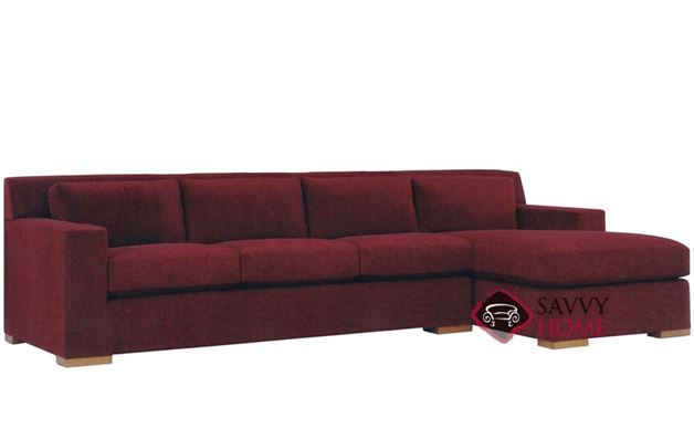 Corvo Chaise Sectional with 3-Cushion Queen Sleeper