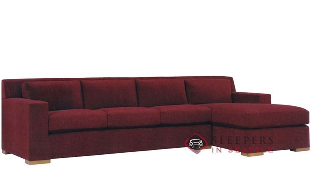Lazar Corvo Chaise Sectional with 3-Cushion Sleeper (Queen)